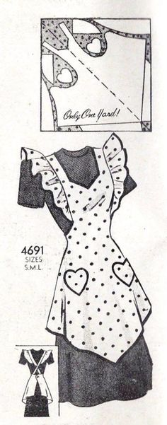 Anne Adams 4691 apron pattern