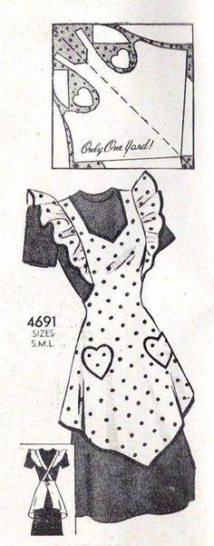 Anne Adams 4691 apron pattern