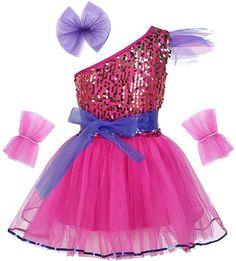 Yeahdor Big Girls Hip Hop Dance Costumes Kids Shiny Sequins Jazz Performance Cheerleading Uniform Clothing Set