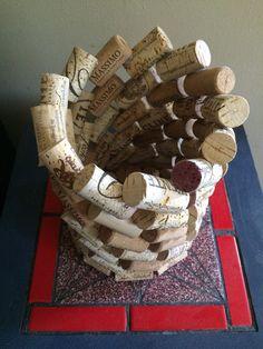 Portavelas de corcho del vino por OuterWorldCraft en Etsy