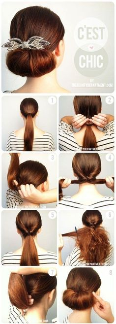 Tutorials: 12 Super Easy DIY Wedding Hairstyles - via The Beauty Department