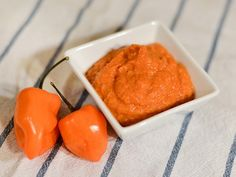 Roasted carrot and tomato habanero hot sauce from Serious Eats