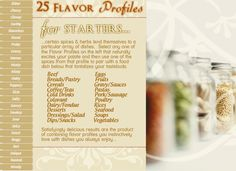 Choosing just the right spice will become a snap with The Spice Quarter's Flavor Profiler...stay tuned!