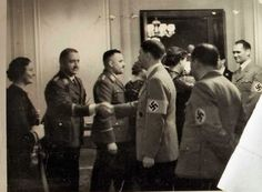 Hitler at a Berlin reception in 1938 with Hess.