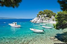 My hometown, Brela, on the southern Croatian coast...best beaches in the world <3