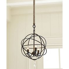 Jute Rope Chandelier Pole...great replacement for chain