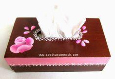 Cajitas pintadas con rosas DIY ~ cositasconmesh