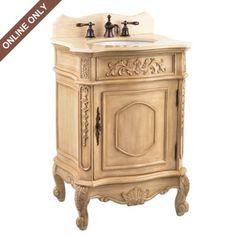 I so like this - Ivory Sinclair Vanity Sink, 26in. at Kirkland's