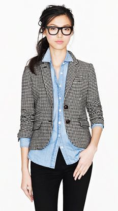 denim & blazer love. J.Crew 2012