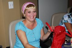 """Cancer patient Melanie McBee smiles as she shows off her new look thanks to make-up tips and a wig as a result of the """"Look Good, Feel Better"""" program.    """"Look Good, Feel Better"""" is an opportunity for cancer patients to receive tips on how to improve  Tips on how to loose Weight Look better  Feel Better change habits more at HFDW"""