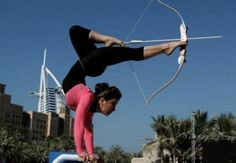 Lilian Stepanova is a Moldovan contortionist known for her ability to perform archery with her feet while on hand-balancing canes. She has performed during NBA halftime shows, on America's Got Talent, on JKL, on The View, & on The Best Damn Sports Show Period.