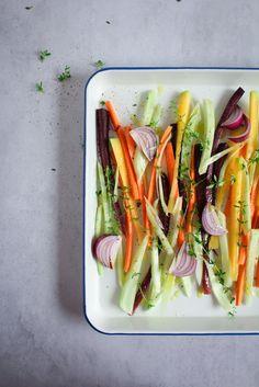 Groenten roosteren in de oven / www.eenlepeltjelekkers.be