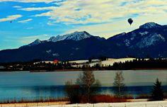 Hot Air Balloons in the Alps - Jon Lander ©2016 - Bavaria, Germany