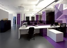 Design Your Office - purple theme. #officedesigns