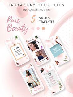 Make up artist Instagram Grid, Instagram Frame, Instagram Design, Instagram Story Template, Blogger Templates, Pure Beauty, Story Ideas, Hairdresser, Masters