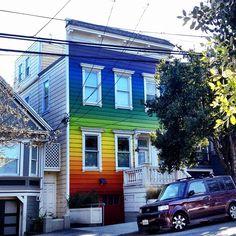 Amazing rainbow house in Noe Valley by jdeeringdavis, via Flickr
