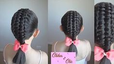 Trenza Doble-Trenza Pasacinta Doble/Double - Double Passes Through Ribbo. Lilith Moon Hairstyles, Plaits Hairstyles, Braided Hairstyles, Cool Hairstyles, Long Hair Tips, Braids For Long Hair, Wacky Hair, Ribbon Braids, Toddler Hair