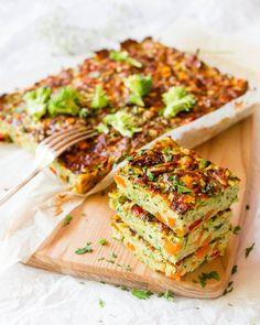 Leah Itsines' BARE zucchini and sweet potato slice