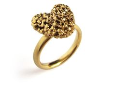 365 Hearts Ring Medium gold plated