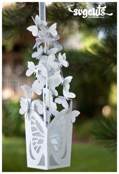 Butterfly Lantern by Fleurette F Bloom | SVGCuts.com Blog