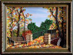 Картина панно рисунок Праздник осени Квиллинг Золотая осень Квиллинг Бумага Бумажные полосы фото 1