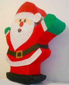 Piñata Santa por aldimyshop en Etsy