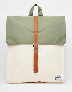 Herschel+Supply+Co+City+Backpack+in+Khaki+Colour+Block