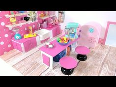 DIY Miniature Kitchen Living Room Combo - The Kitchen - for LPS, LOL, & Small Dolls - YouTube