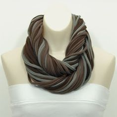 #T-shirt Scarf   women style #2dayslook #new #style  www.2dayslook.com