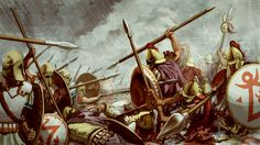 The defeat of the Carthaginian sacred band by the Syracusan resistance under Timoleon. Despite their training, and having just about the best equipment money could buy, they were defeated.