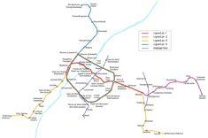 Le métro de Bruxelles est des plus modernes du continent. La construction a commencé en 1970 et la première ligne a ouvert en 1976.  #bruxelles #metro #plan #carte