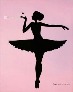 Printable (Ballerina Silhouette Pink) by ArtbyKylieShai on Etsy Mehr Ballerina Silhouette, Silhouette Portrait, Silhouette Art, Ballet Art, Ballerina Party, Dance Art, String Art, Paper Art, Coloring Pages