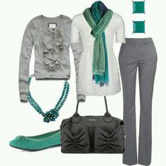 Work grey pants