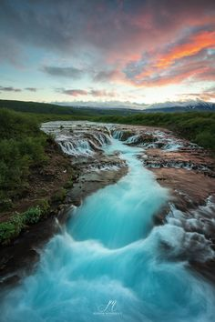 Bruarfoss Waterfall - .... Waterfalls, Iceland, Places To Travel, River, Outdoor, Ice Land, Outdoors, Destinations, Holiday Destinations