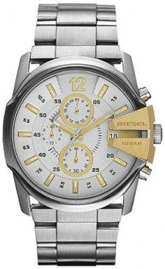 Relógio Diesel Chronograph with Date Steel Men's Watch DZ4265 #Relogios #Diesel