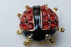 Vintage KIRKS FOLLY Ladybug Brooch Mint