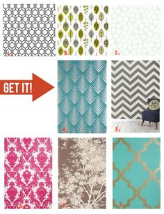 """Wallpaper is making a beautiful comeback! Check out these fabulous inspirations from """"Pin it. Get it!"""" on the BHG Style Spotters Blog"""