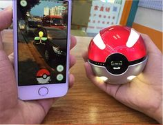Pokemon Go Ball Power Bank 10000mA Charger With LED Light