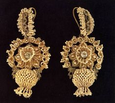 Antique Russian beaded earrings