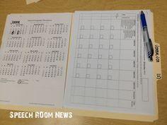 SLP 101: Working Folders. Organization Ideas for school SLPs.