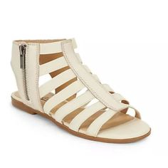 Lucky Brand Gladiator Sandals ‼️ Brand new with box! Cream/off white color. Size 7.5. Chic leather gladiator sandals with comfy elasticized straps Leather upper Elasticized straps Side zip closure Open toe Man-made lining and sole Lightly padded insole Lucky Brand Shoes Sandals