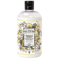 Poo-Pourri Toilet Spray leaves your bathroom smelling fresh and clean. Simply spray the water in the bowl with Poo-Pourri Toilet Spray before using the toilet to prevent odors before they begin! Poo Pourri Recipe, Bass, Toilet Spray, Natural Essential Oils, Home Fragrances, Smell Good, Travel Size Products, Lemon, The Originals