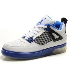 Air Jordan Fusion 5 Noir/Bleu Pour Homme pas cher boutique