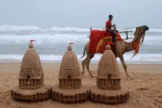 sand sculptures, Puri India