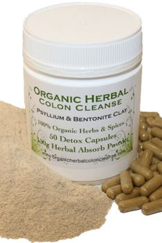 Herbal Colon Cleanse Psyllium and Bentonite Clay Blend Digestive System Function, Herbal Colon Cleanse, Psyllium Husk Powder, Colon Cleansers, Bentonite Clay, Organic Herbs, Stop Eating, Stools, Dog Food Recipes