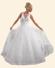 50s fashion | Vintage Wedding Dresses: 1950s Inspired and Retro Styles | Destination ...
