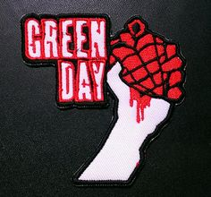 Green Day Embroidered Iron On Patch 3'' X by LostThenFoundPatches