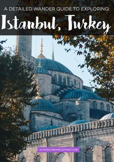 Pinterest visual on detailed wander guide to explore Istanbul