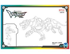 Voltron Blue Lion Coloring Page Lion Coloring Pages, Cartoon Coloring Pages, Free Printable Coloring Pages, Coloring Sheets, Coloring Books, Free Printables, Blue Lion Voltron, Voltron Force, Form Voltron