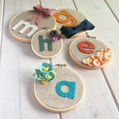 Personalized Custom Girls Blooms // Embroidery Hoop // Wall Decoration by ItzFitz on Etsy https://www.etsy.com/listing/206016259/personalized-custom-girls-blooms